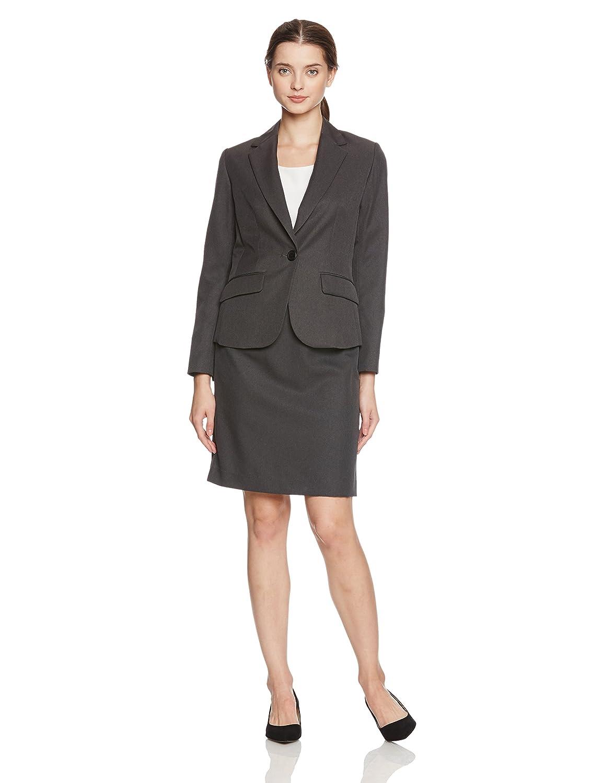 (セシール) cecile スカートスーツ B0751JHWSJ 日本 13AR70-(日本サイズL相当) チャコールグレー チャコールグレー 日本 13AR70-(日本サイズL相当)