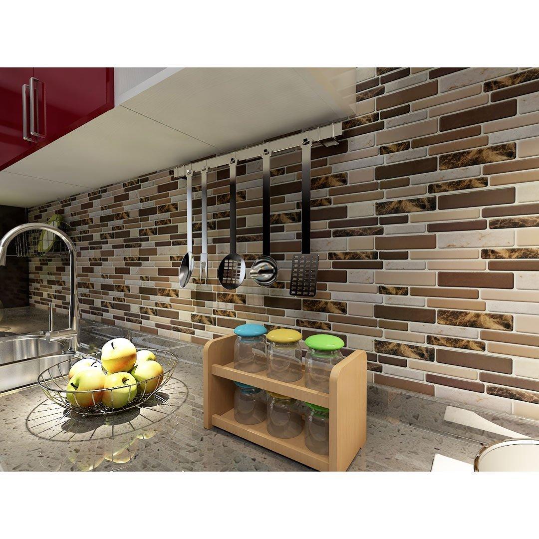 Art3d Kitchen Backsplash Tiles Peel and Stick Wall Stickers, 12 x12 , 10 Sheets