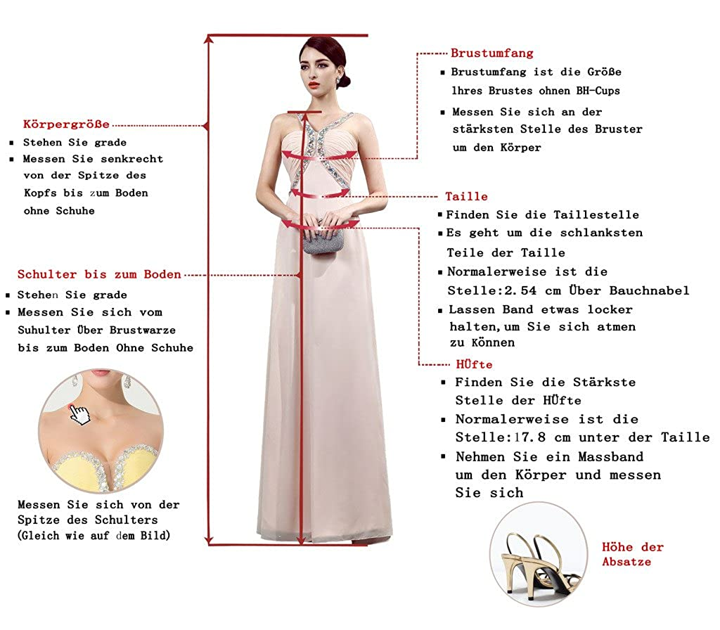 Victory Bridal Elfenbein Elegant Herzausschnitt Hochzeitskleider Brautkleider Brautmode Lang A-Linie