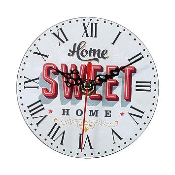 Relojes de Pared de Madera, 7 tipos de estilo Vintage relojes de pared de madera redonda oficina en casa decoración del dormitorio(#7): Amazon.es: Hogar