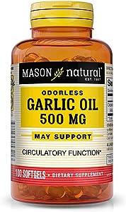 MASON NATURAL, Garlic Oil 500 ODORLESS