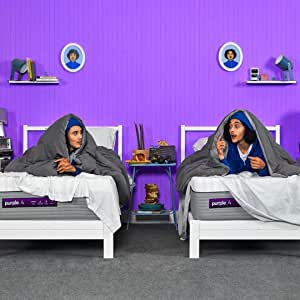 "Purple The New Mattress, with Soft 4"" Smart Comfort Grid Pad and Cooling Comfort-Stretch Cover (King)"
