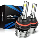 Marsauto 9007/HB5 Led Headlight Bulbs,12000LM 6000K Xenon White,M2 Series Hi/Lo Beam Bulb Conversion Kit