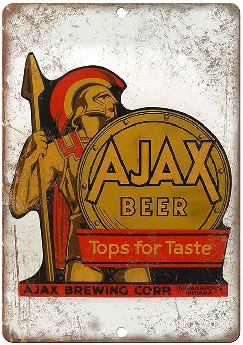 AJAX Beer Indianapolis Vintage Placa Vintage Metal Cartel de ...