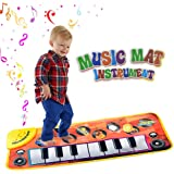 Piano Mat Musical Carpet Play Keyboard Singing New Touch Blanket for Childrens Toys with 8 Music Instrument Pattern Great Baby Toy Gift for Birthday Christmas Festival