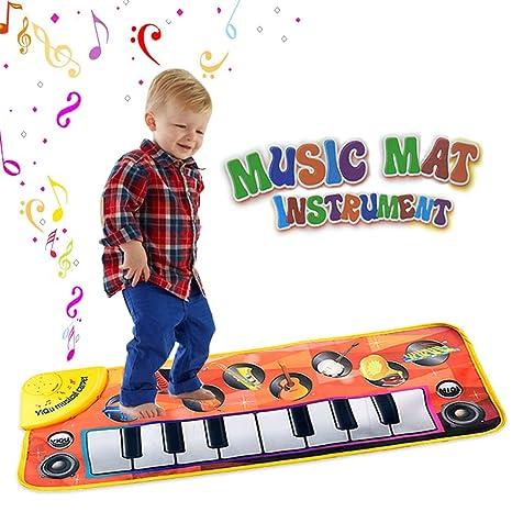 Pianoforte a Tastiera Musicale Tappetino Tocco Giocattoli per Bambini con 8  Strumento Musicale Grande Regalo per 65e728246d5f