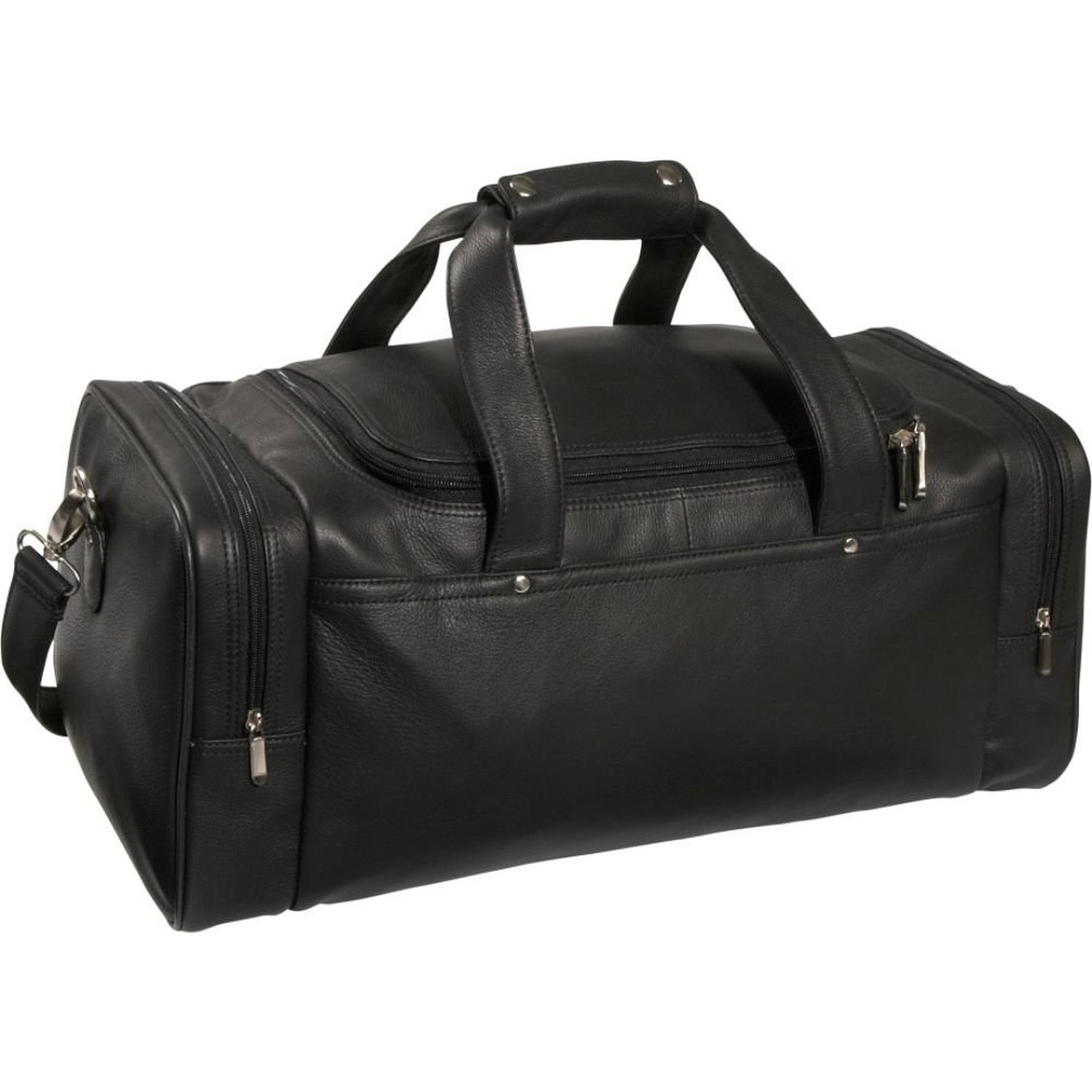 Royce Leather Sports Duffel Bag, Black, Large