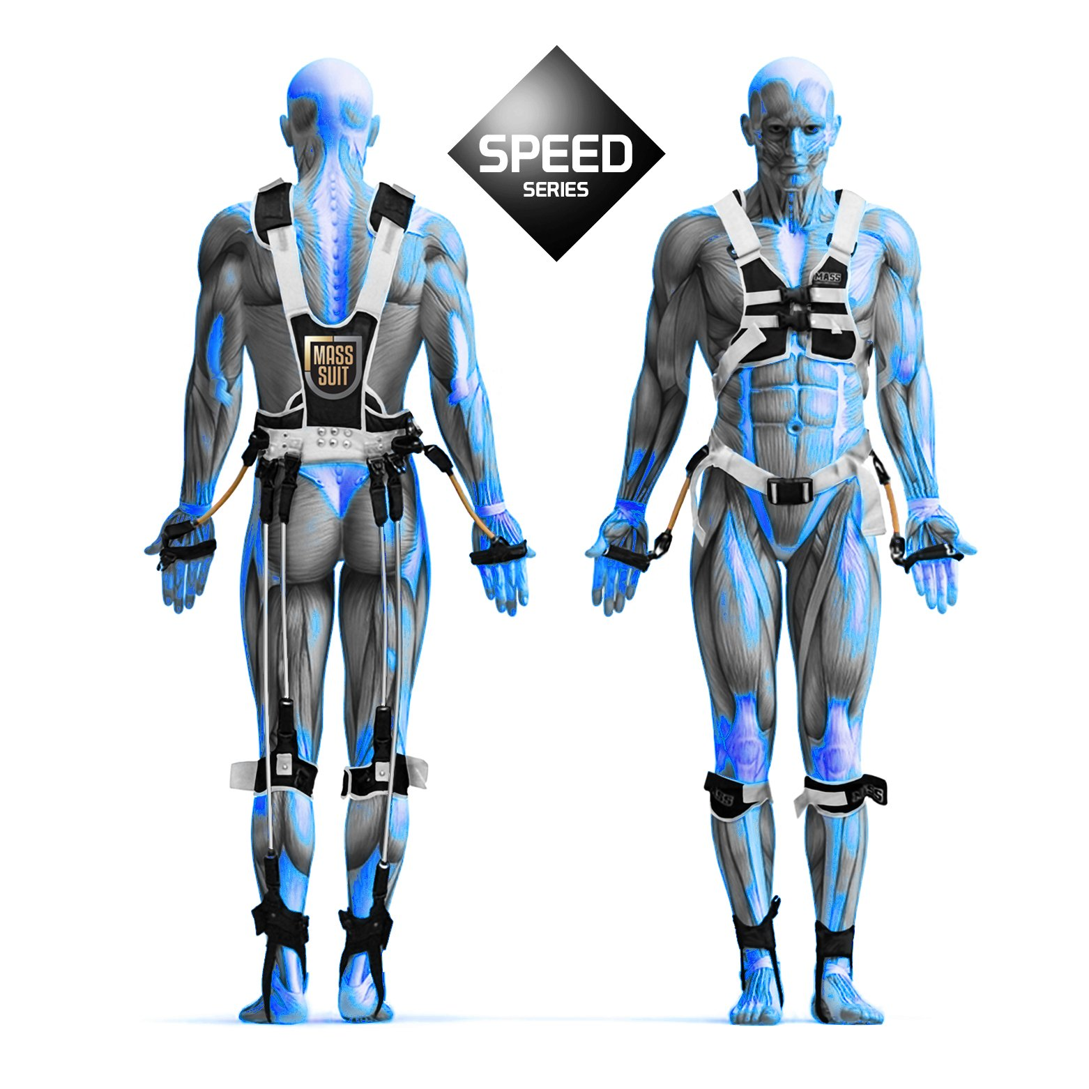 MASS Suit Speed Series by Juke Performance - Professional grade athletic speed training system - Full body resistance exercise equipment - Athletic sports system for football, basketball & Soccer.