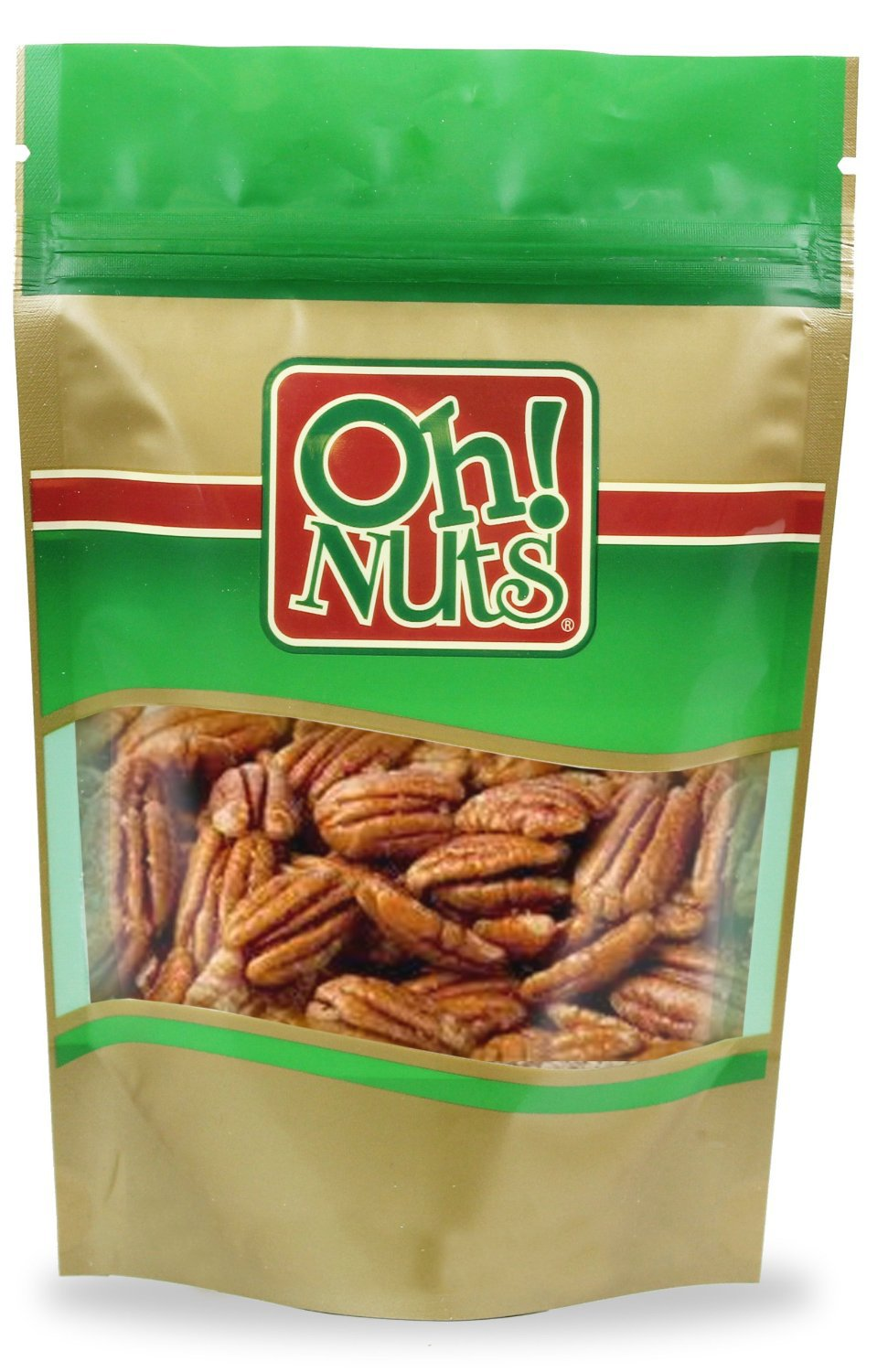 Raw Georgia Pecans Jumbo 2 Pound Bag - Oh! Nuts
