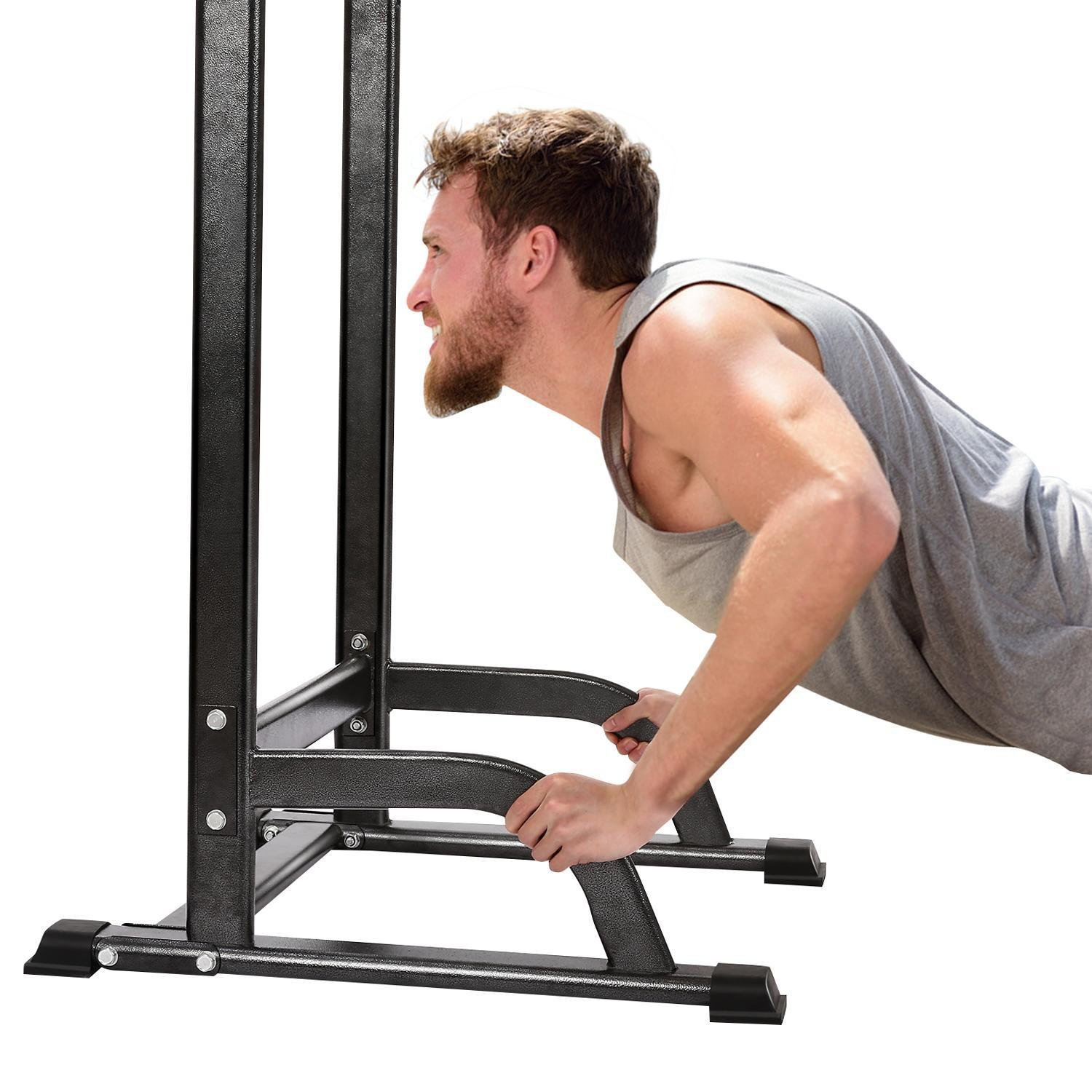 Adjustable Pull Up Chin Up Bar,Pull Up Stand Power Tower Strength Power Tower Fitness Workout Station by Rapesee (Image #4)