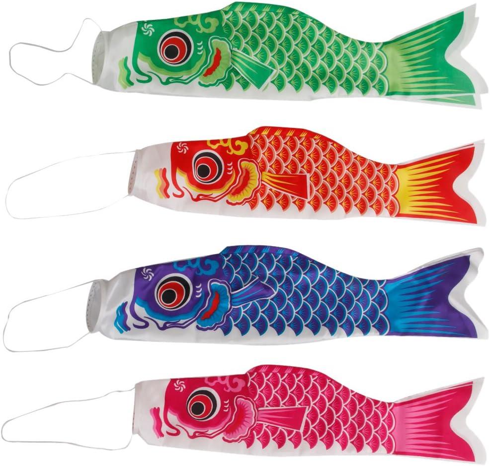 Blue Black 5pcs Green Pink Japan Windsock Carp Flag Koi Nobori Fish Kite Streamer Garden Decoration Crafts Red