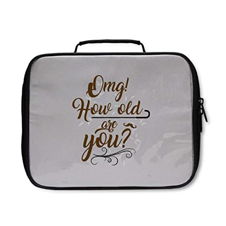 df531fc97b45 Amazon.com: Nylon Lunch Box Omg! how old are you? adults Insulated ...