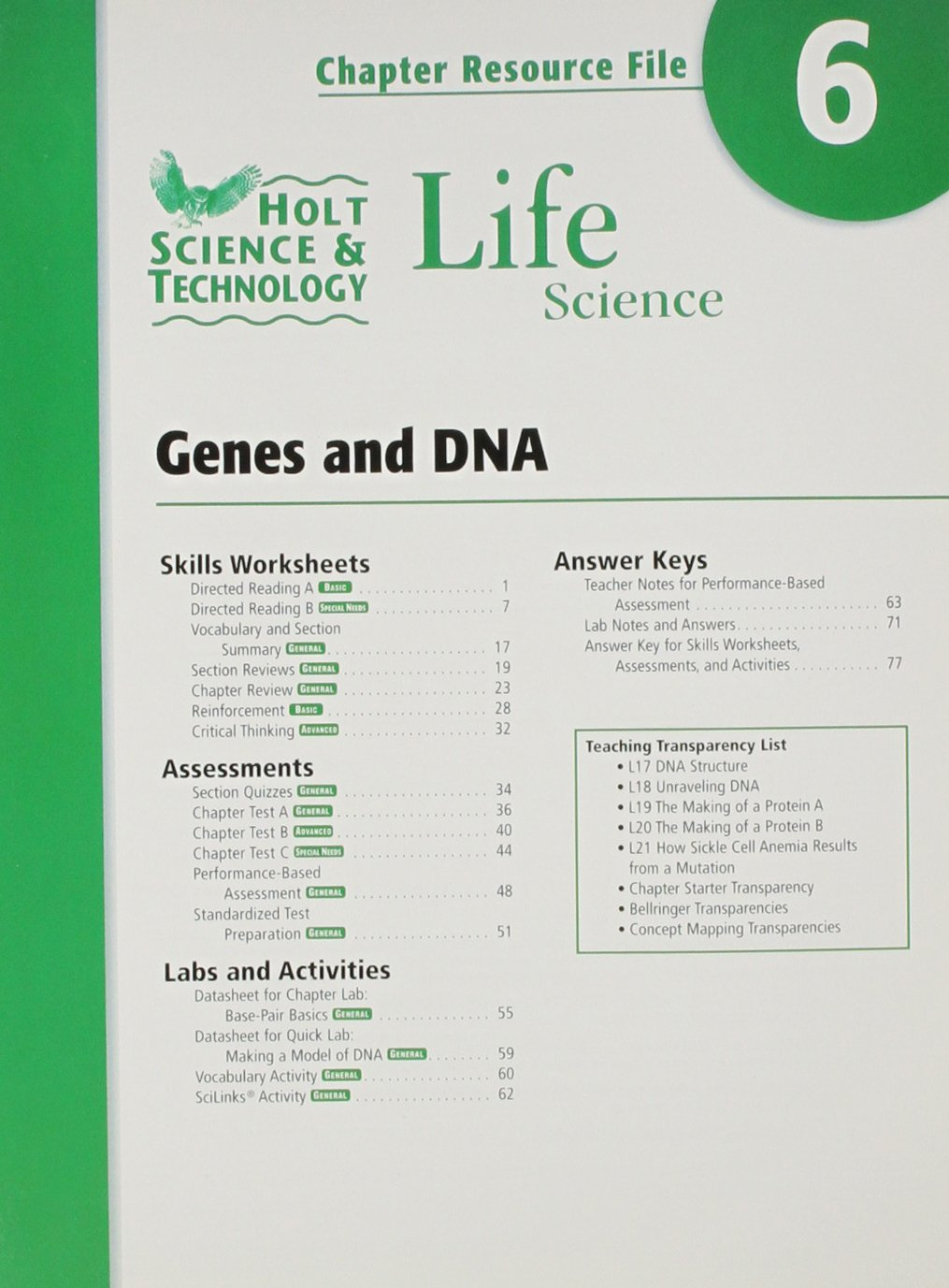 holt quiz answers dna