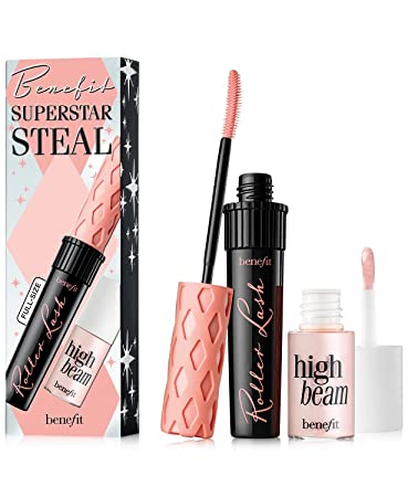 e7598793288 Image Unavailable. Image not available for. Color: Benefit Cosmetics Superstar  Steal Set Featuring a Full Size Roller Lash Mascara & Mini High Beam