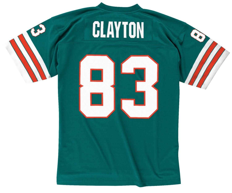 2b9e91c1d37 Amazon.com : Mitchell & Ness Mark Clayton 1984 Miami Dolphins Home Aqua  Legacy Jersey Men's : Sports & Outdoors