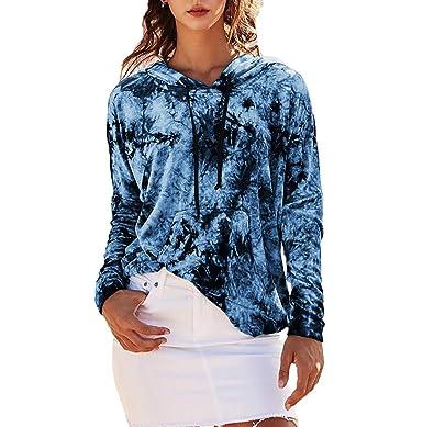 Fräulein Fox Mujeres Primavera y Otoño Sudaderas con Capucha Casual Camisetas de Manga Larga Sweatshirt Remata Suéter Jumpers Moda Impresión T-Shirt Tops ...