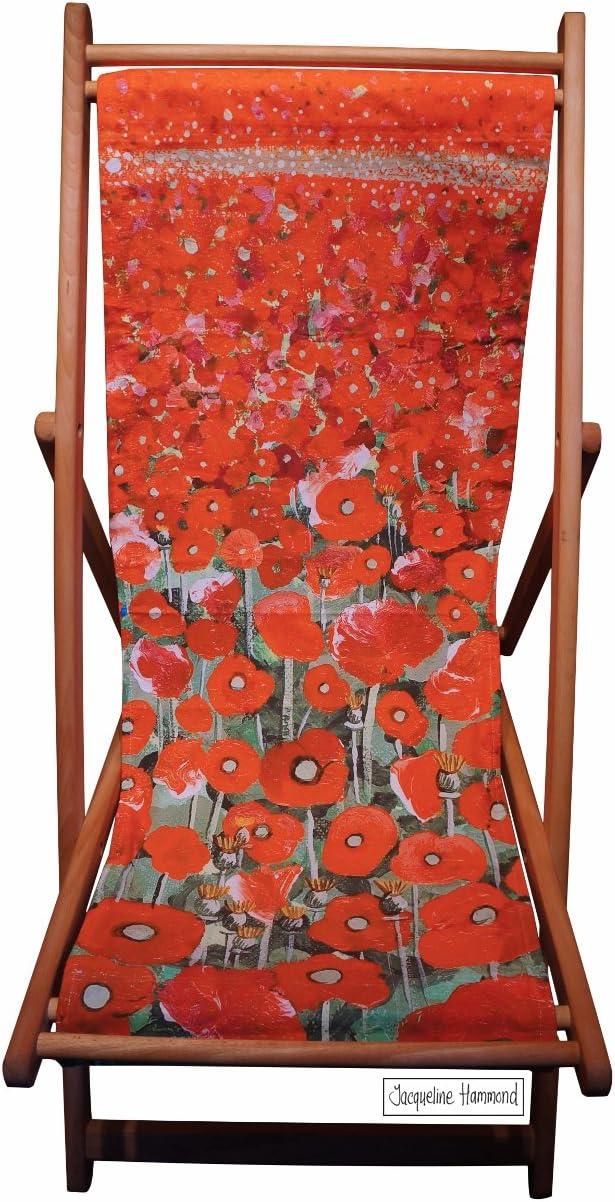 Poppy marejada - tabla silla al aire libre plegable de madera - muebles de jardín - diseño náutico de tumbona de tradicional: Amazon.es: Jardín