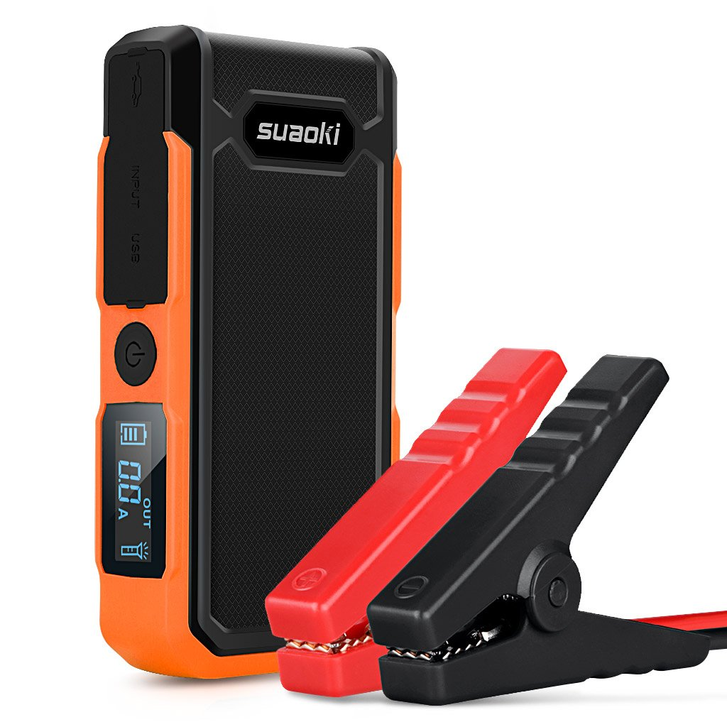 Suaoki U10 800A Peak 20000mAh Portable Car Jump Starter (Up to 6.0L Gas or 5.0L Diesel Engines) Auto Battery Booster Power Pack Phone Charger With Smart Charging Ports