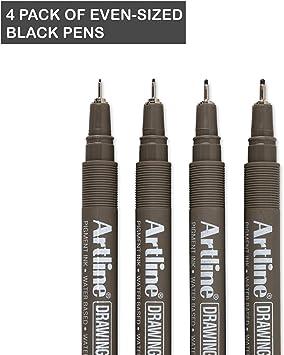 Artline drawing system pen black 0.4 mm writing width