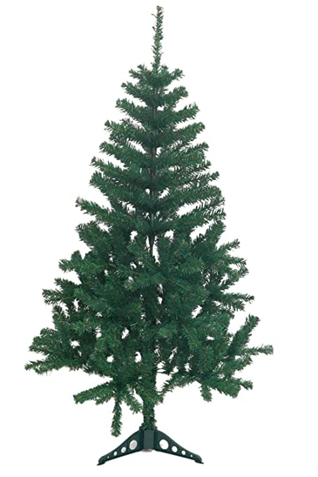 holiday essence 4 foot green artificial christmas tree 300 tips pvc base unlit