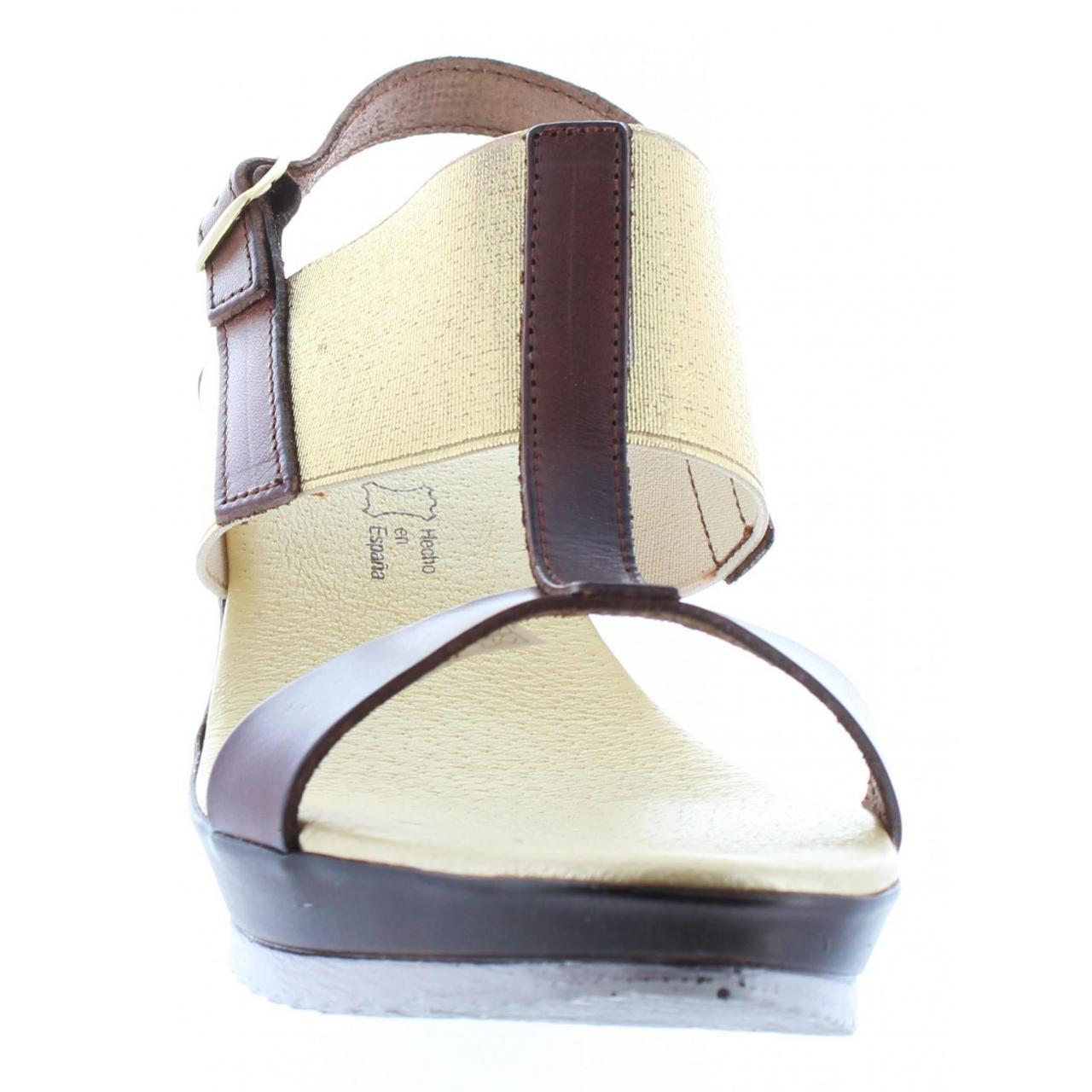 CUMBIA Schuhe Damen Keilabsatz für Damen Schuhe 30133 NUEZ-Gold 7b3fa9