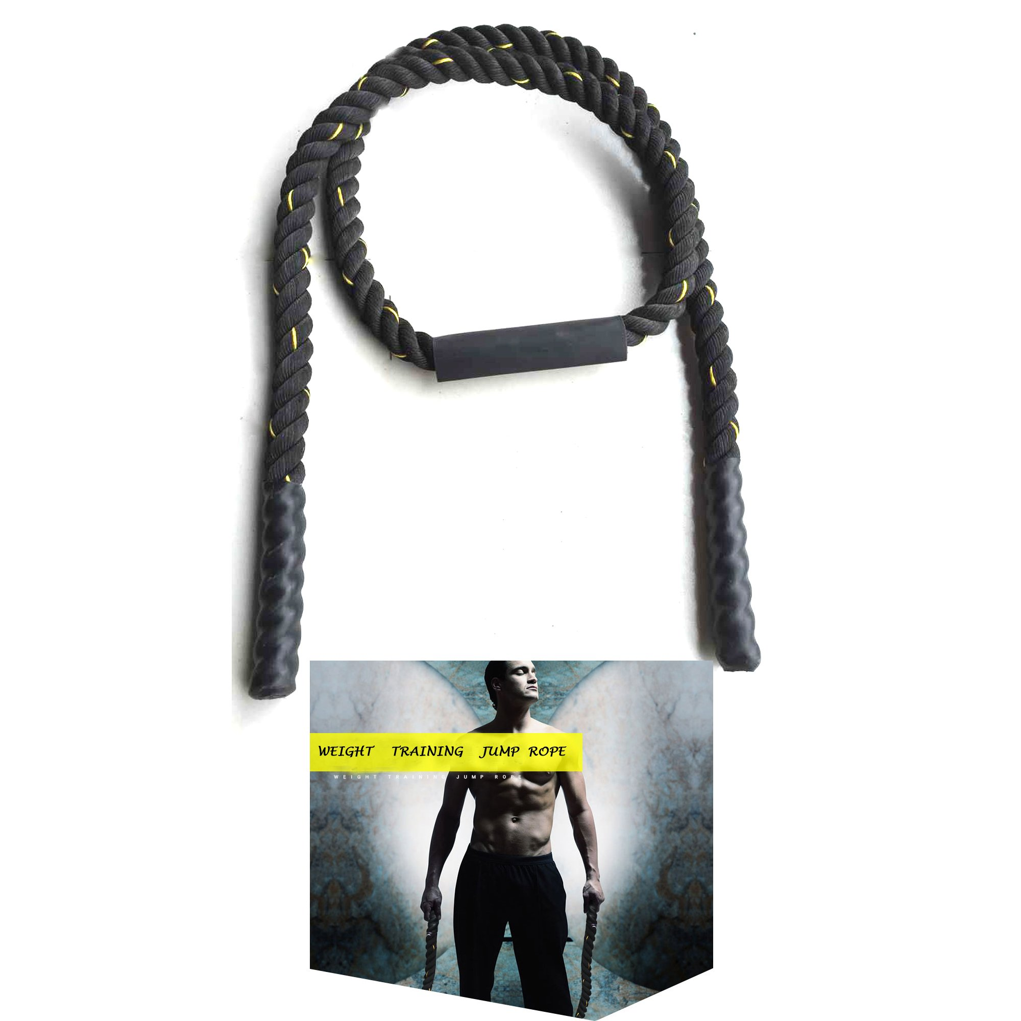 Tonyko Heavy Jump Rope, Weighted Jump Rope (1in×9ft)