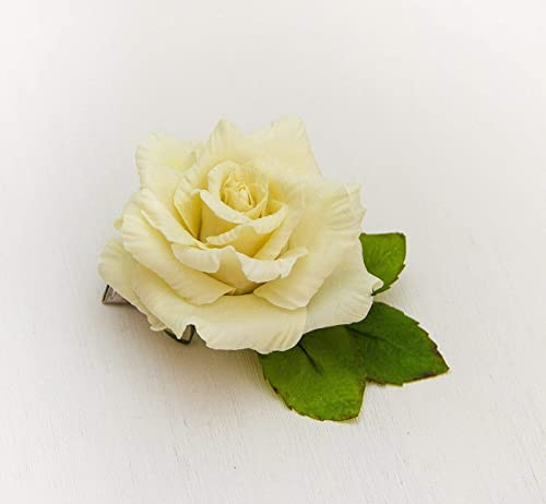 Hair clip barrette Hair barrette rustic hair barrette Hair barrette girl Flower Barrette Barrette hair clip Barrette Flower Girl Gift