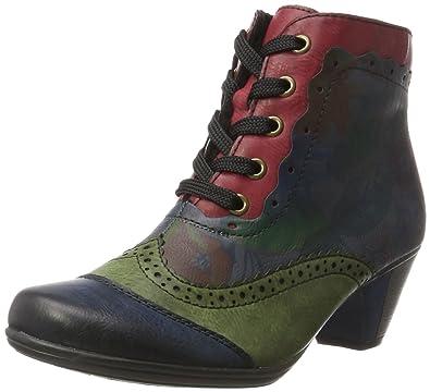 5bde06ab16 Rieker Womens L. Zipper Boots Navy/Leaf/Lake/Wine Size 36 M