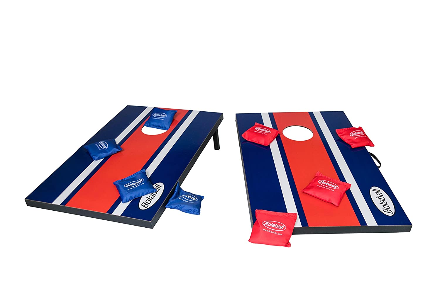 Amazon.com: Bolaball Bean Bag Toss, Cornhole Game Set, 8 Bean Bags, Portable with Handles, Perfect for Parties, Camping, Tailgating, 3ft x 2ft: Toys & Games