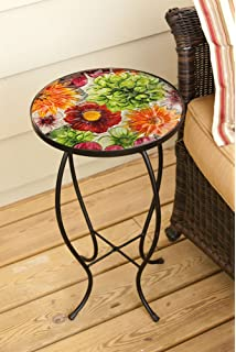 Summer Splash Round Glass Table