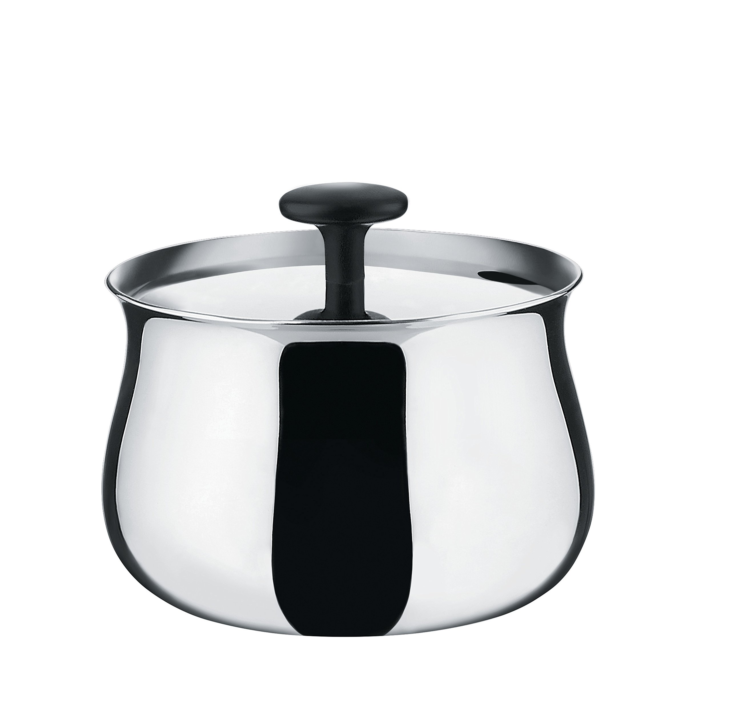 Alessi''Cha'' Sugar Bowl in 18/10 Stainless Steel Mirror Polished, Silver