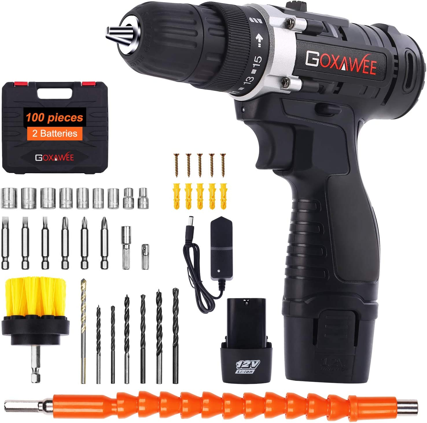 Goxawee Cordless Drill Screwdriver