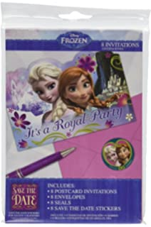 Amazon frozen invitation and thank you 8 each toys games disney frozen birthday party invitations with envelopes 24 count filmwisefo