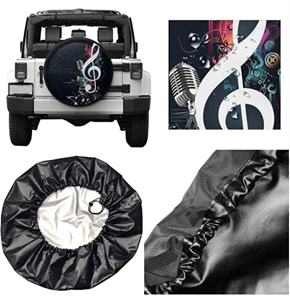 huizehonghong Car Tire Cover Rainproof Protective Cover Cape Water Proof Universal Spare Wheel Tire Cover Fit for Trailer RV SUV 14 15 16 17