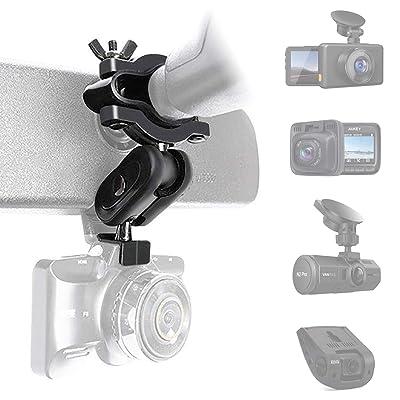 Dash Cam Mount, Anumit Universal Dash Camera Rear View Mirror Mount Holder Kit for YI, Rexing, APEMAN, Roav by Anker, Aukey, Vantrue, Crosstour, VAVA, KDLINKS X1 and Most Car Camera, Car Recorder, GPS: Automotive [5Bkhe0100893]