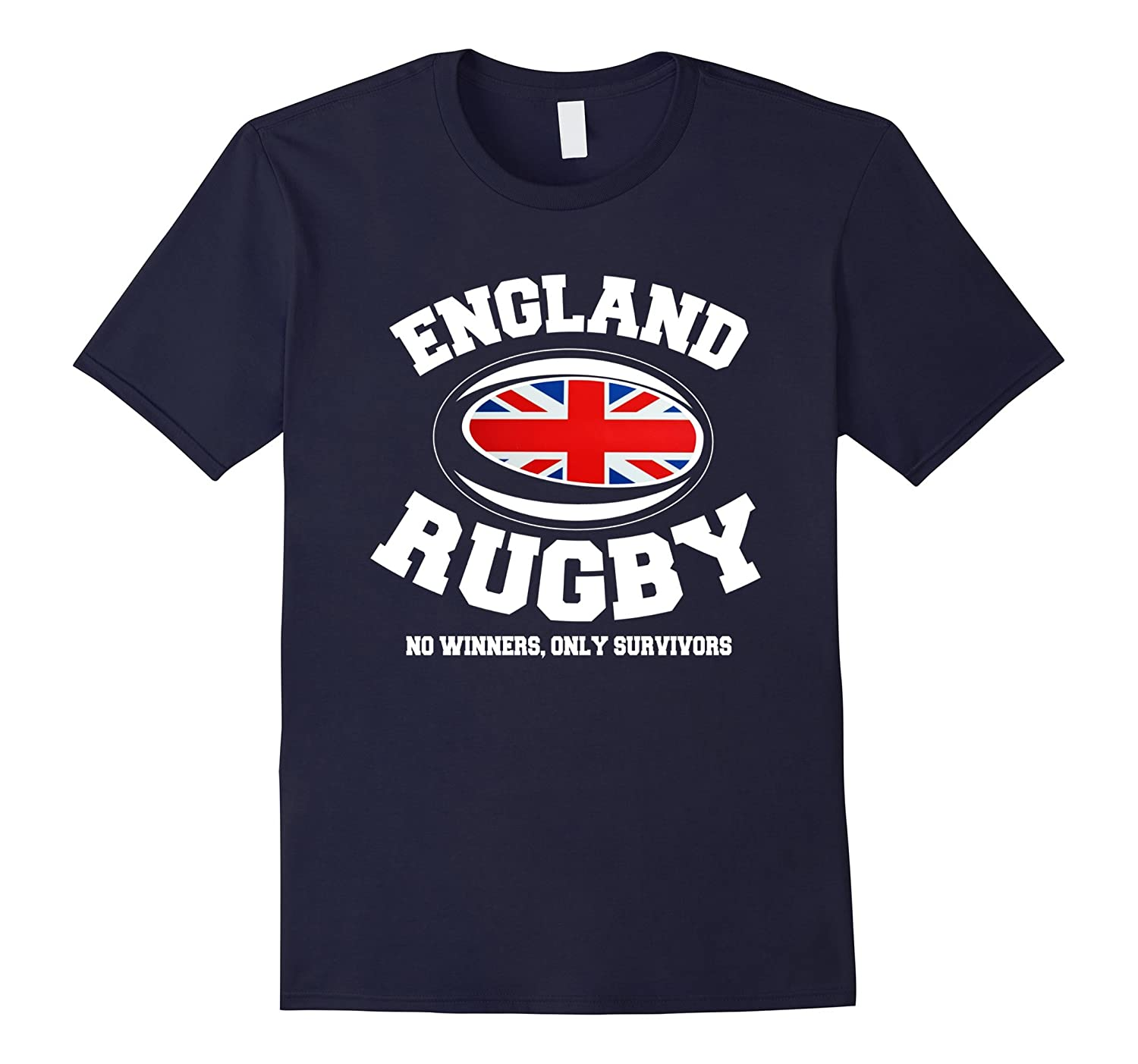 England Rugby T-Shirt No Winner Only Survivors-Vaci