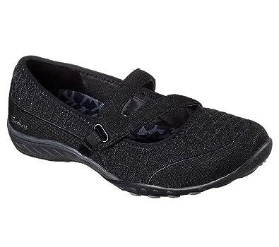 2e62b34b8d63 Skechers Relaxed Fit Breathe Easy Boss Lady Womens Mary Jane Sneakers Black  5.5