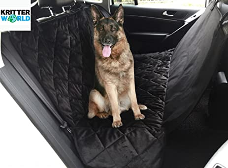 kritterworld pet car seat covers non slip pet car mats rear seat protector water amazon     kritterworld pet car seat covers non slip pet car      rh   amazon