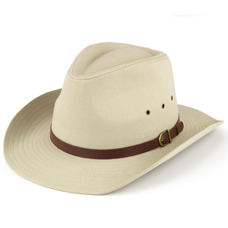 Hawkins wide brim hat with ventilation holes black or beige