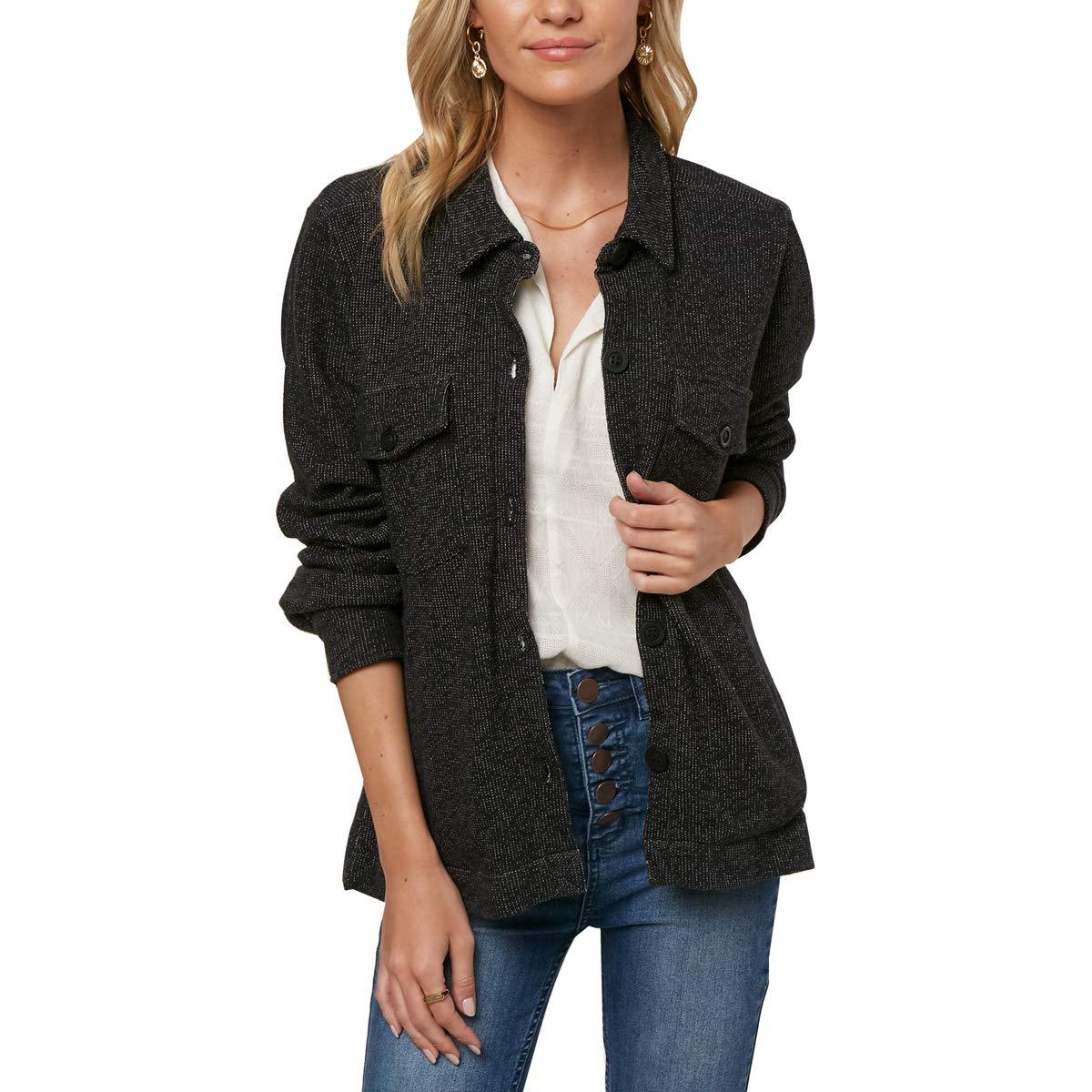 O'Neill Women's Skylar Fleece Jacket, Black, L O'Neill