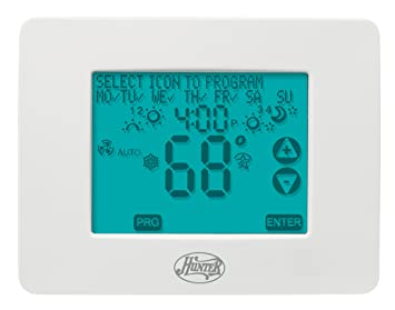 hunter 44860 universal 2h 2c touchscreen thermostat programmable hunter 44860 universal 2h 2c touchscreen thermostat