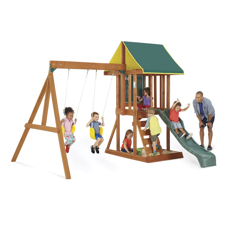 Big Backyard Appleton Wooden Swing Set by KidKraft