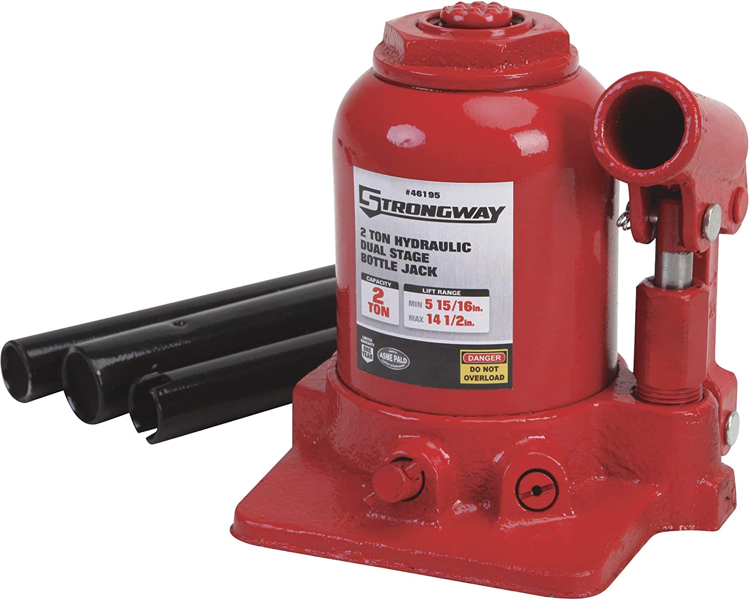 Strongway Hydraulic High Lift Double Ram Bottle - Best jack for lifted trucks