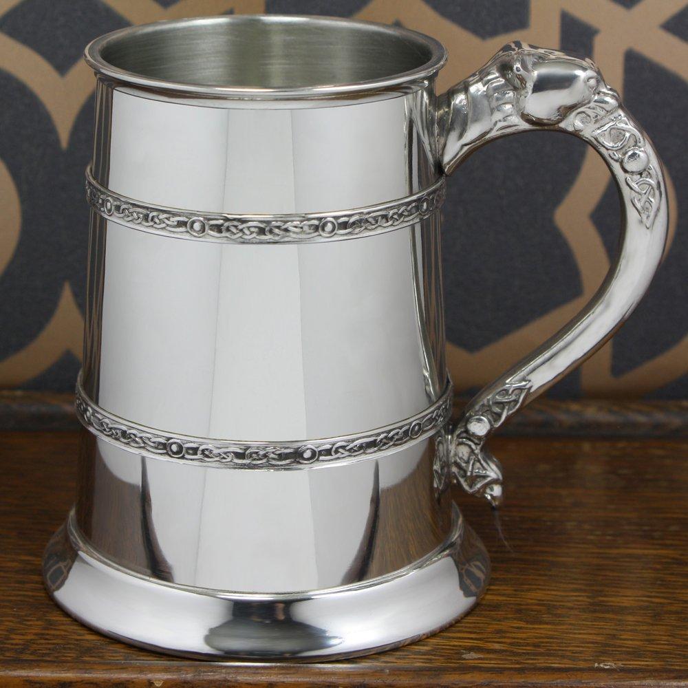 English Pewter Company Keltischer L/öwe 1 Pint Zinnkrug CEL300