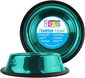 Platinum Pets Non-Tip Stainless Steel Cat Bowl