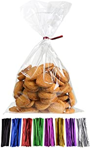 Laojbaba Cellophane Treat Bags Clear Candy Bags (6