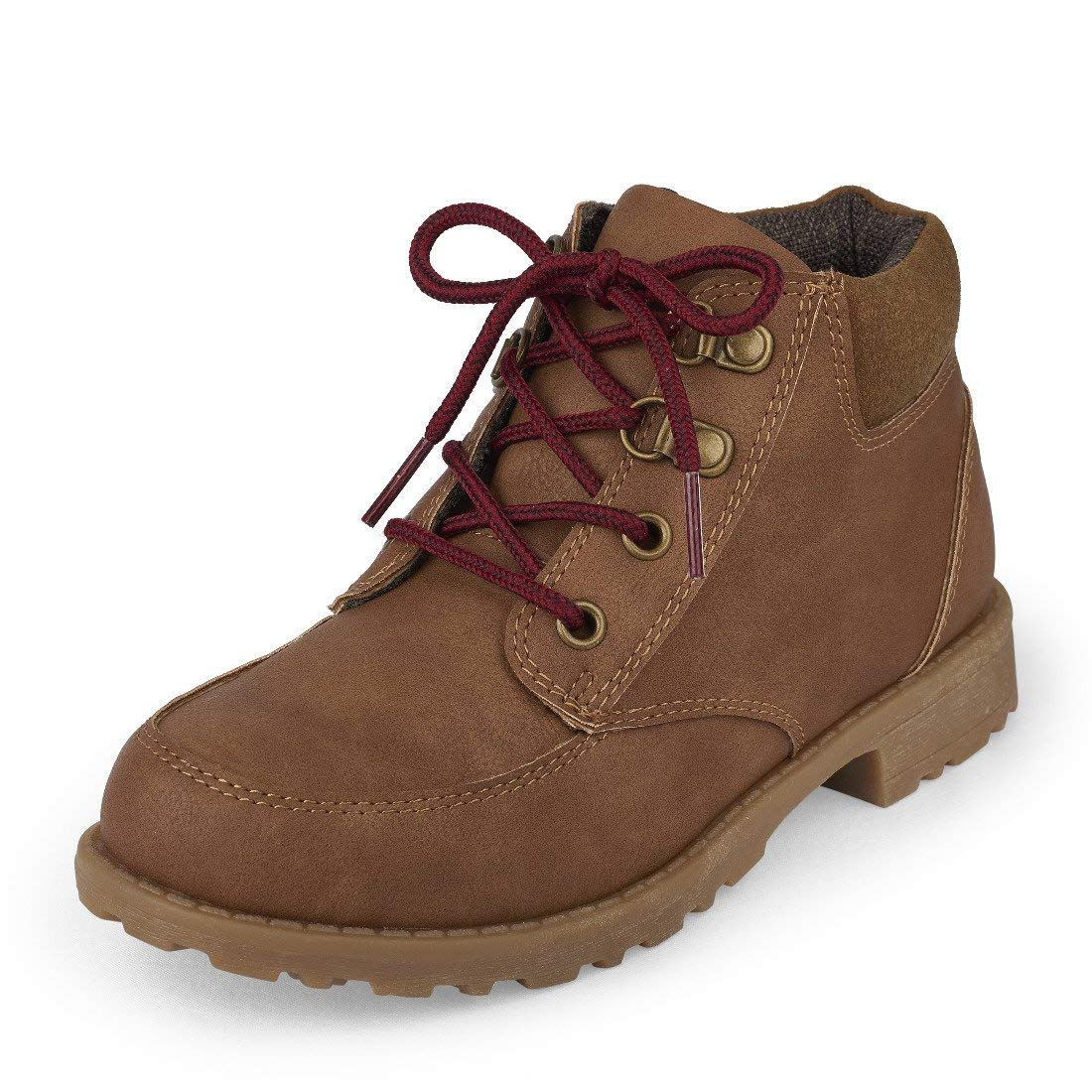 The Children's Place Boys' Ankle Boot, Tan-Boot-3, TDDLR 9 M US Toddler
