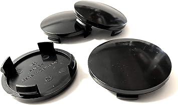 Nabenkappen Felgendeckel Für Alufelgen 60mm N23 Schwarz 4 Stück Dik157 Auto