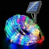 Fatpoom Solar Lights Rope Lights Solar Powered String Lights 40FT 120 LEDs 8 Modes Fairy Lights Outdoor Decoration…