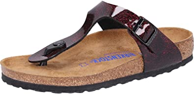 57f17faa78d Birkenstock Women s Gizeh SFB BF Thong Sandals Red iRide Strong Red 10 UK  Red Size